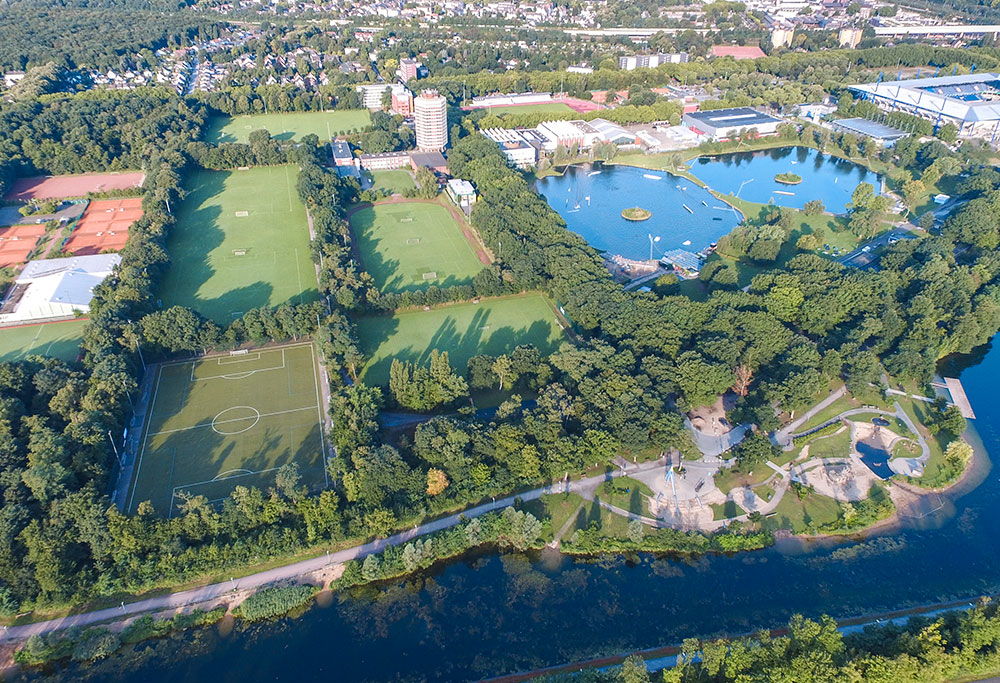 IRONMAN 70.3 Duisburg Sportpark from Above