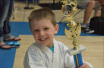 taekwondo kid at tournament