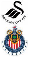Swansea City AFC and Club Deportivo Guadalajara logos