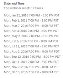 2016 RIOL Webinar Schedule