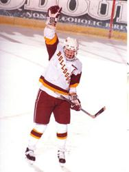 Chris Marinucci won the Hobey Baker Award while at the University of Minnesota Duluth. Credit: University of Minnesota Duluth Athletics.
