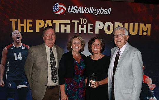 Joan Powell (second from right) with her family after receiving the Frier Award