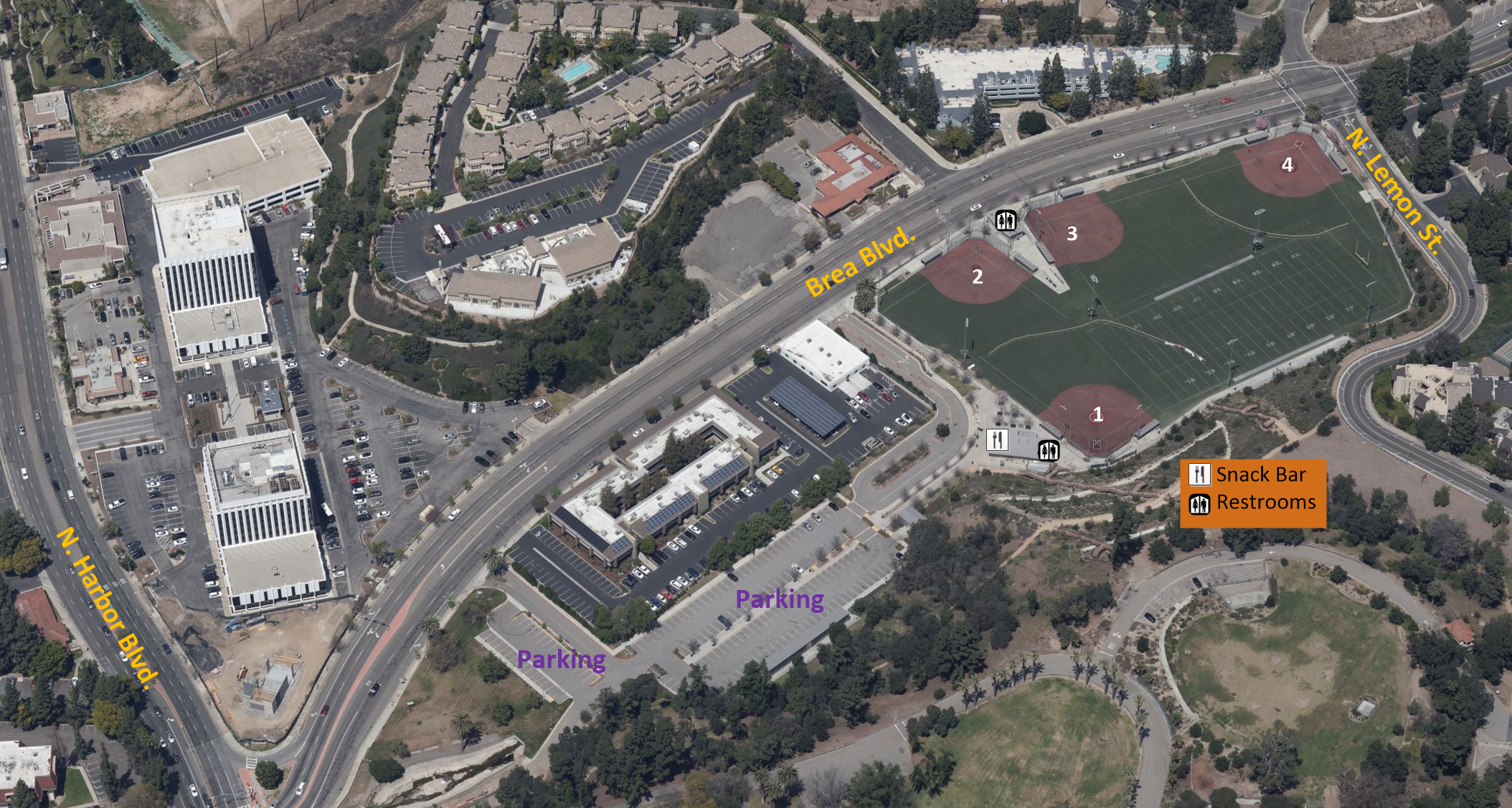map of Lions Field