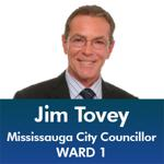 Jim Tovey - Mississauga City Council - Ward 1 - Mississauga News and Mississauga Gazette