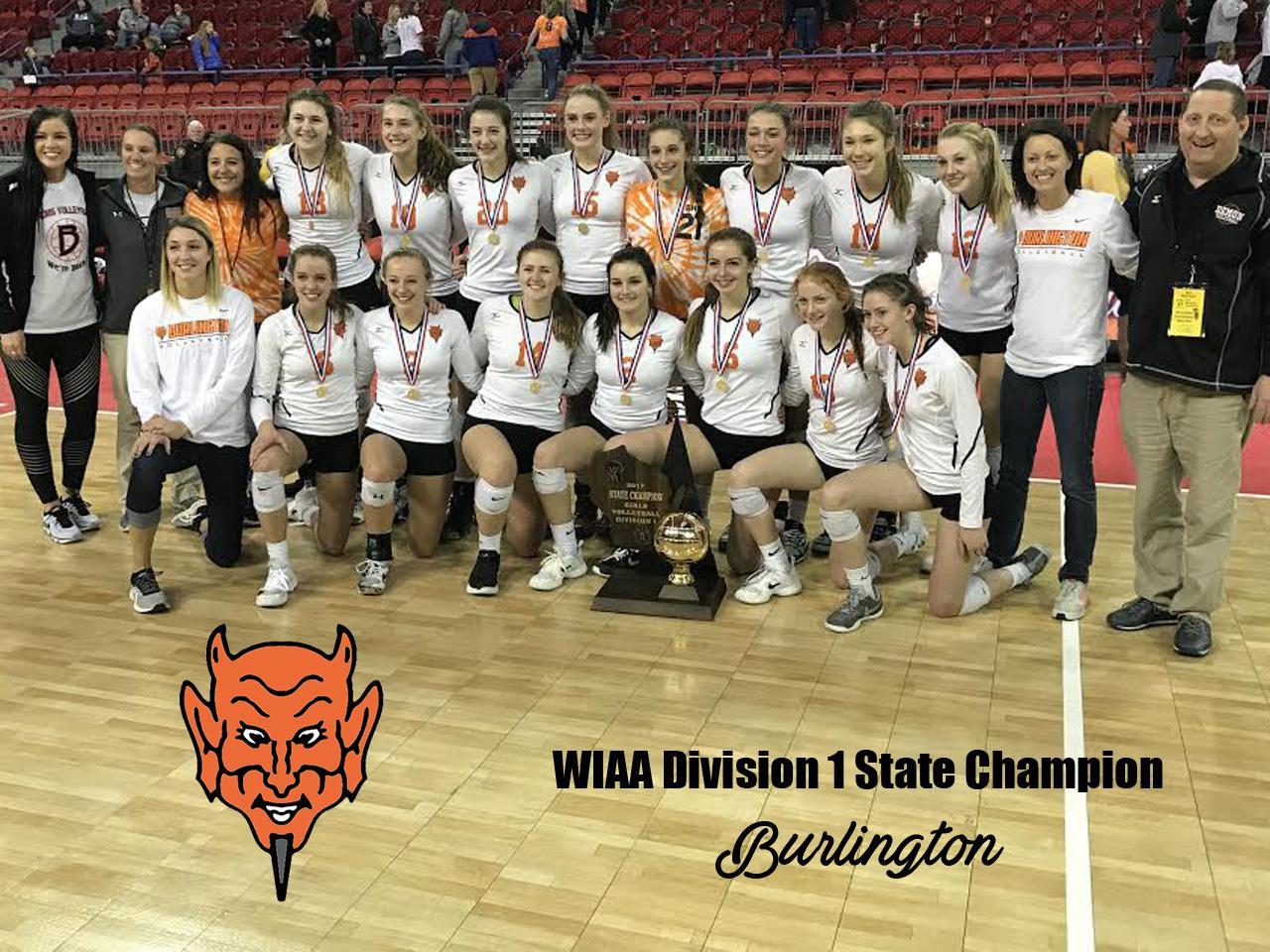 Burlington hoists D1 trophy