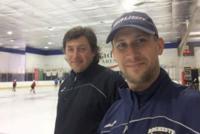Coach Francois Methot with Boris Dorozhenko