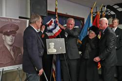 A new plaque honoring Francis L. Murphy was unveiled Saturday at the skating rink that was named for him in 1965. The rink was damaged during the winter of 2015.