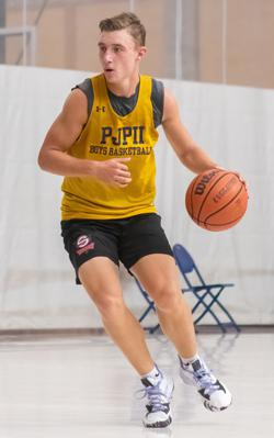 JP Baron (above) is one of three senior guards who had strong days for the Golden Panthers. (Photo: Sean Portnoy for CoBL)
