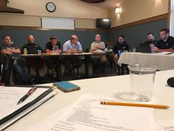 WWCA Meeting picture July 8, 2018 Hall of Fame selection