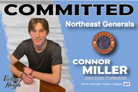 Connor Miller commits to Northeast Generals (OHL)