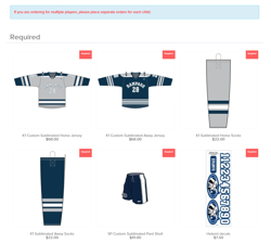 Rampage Hockey Jersey Orders