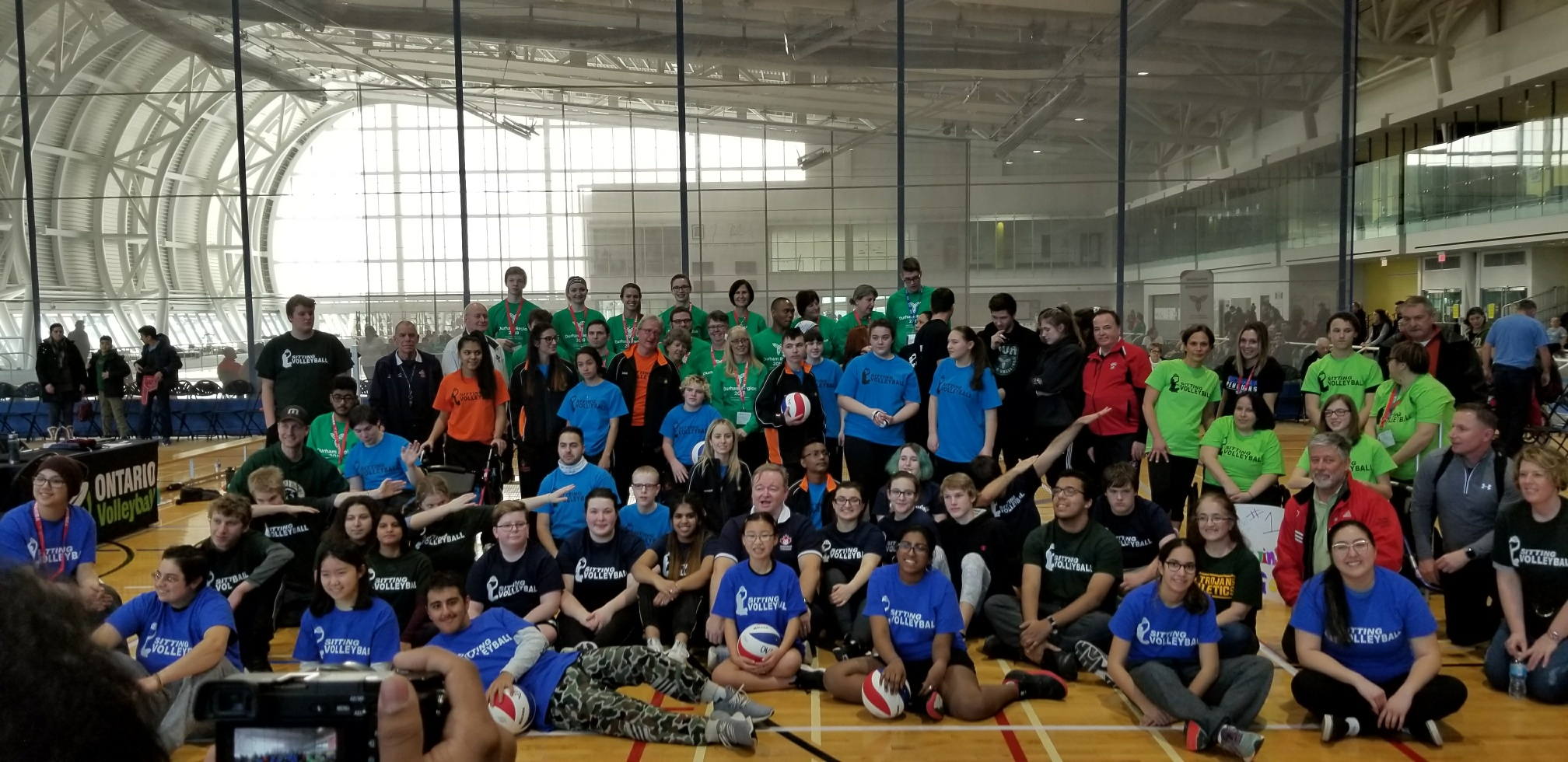 Sitting volleyball participants at the 2018 Ontario Parasport Games