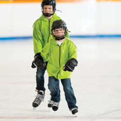 Learning to Skate at All in Ice Skating with Hockey Lessons ages 3 & up (must pass Snowplow Sam 3)